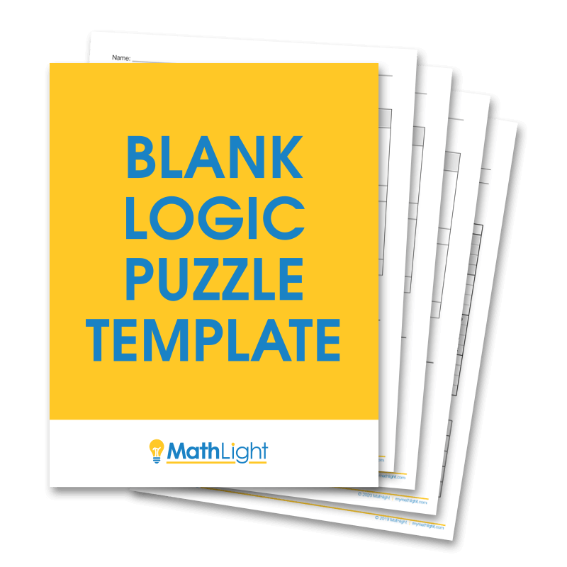 Blank Logic Puzzle Template